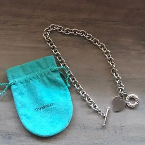 Authentic Tiffany Heart Tag Toggle necklace